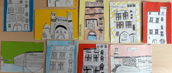 Cartes postales de balades urbaines